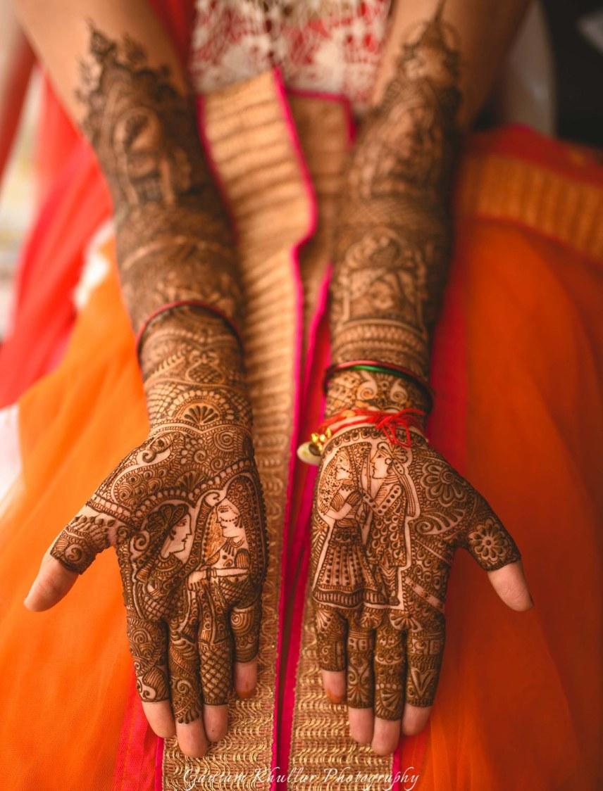 Intricate Raja-Rani Mehendi Tells A Story by Gautam Khullar Bridal-mehendi | Weddings Photos & Ideas
