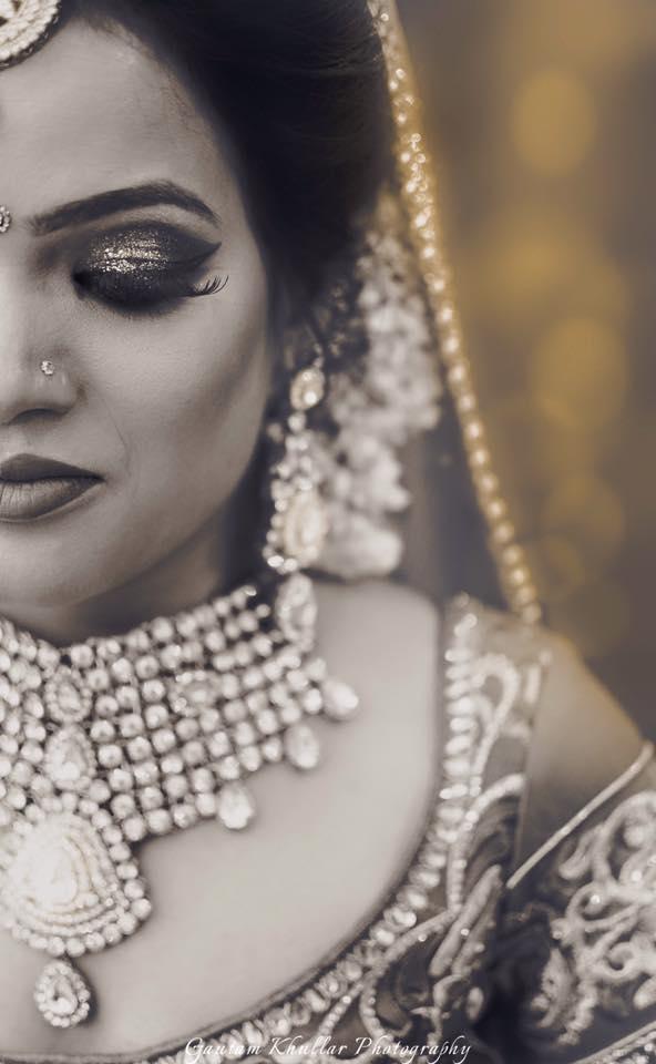 Shimmery Smokey Eye Bridal MAkeup by Gautam Khullar Wedding-photography Bridal-makeup | Weddings Photos & Ideas