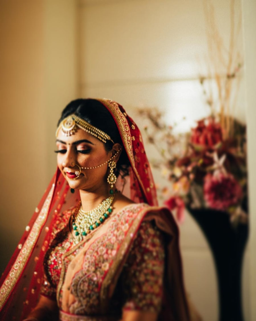 Candid Shot Of The Bride Before Her Wedding by Gautam Khullar Wedding-photography Bridal-jewellery-and-accessories Bridal-makeup | Weddings Photos & Ideas