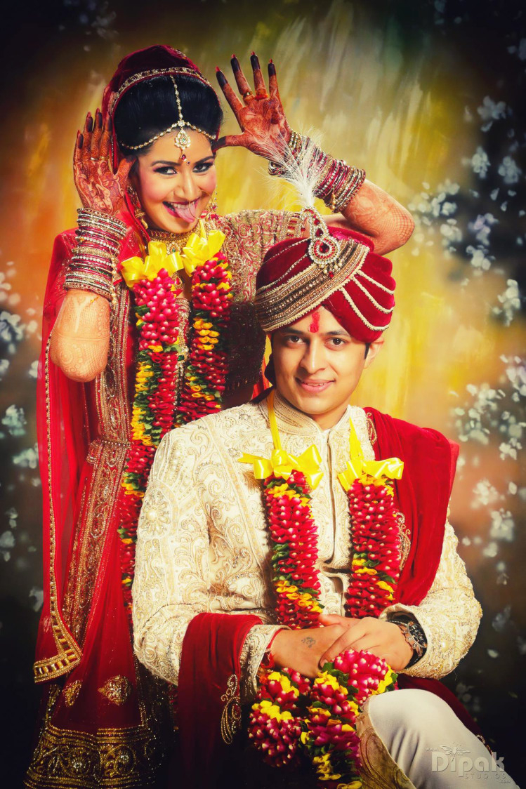 Bride And Groom Portrait On Wedding Day by Kabeer Grover Wedding-photography Groom-wear-and-accessories | Weddings Photos & Ideas