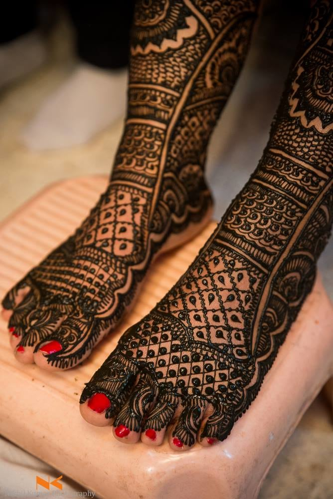 Magnificent Feet Mehendi by Nikhil Kumar Wedding-photography Bridal-mehendi | Weddings Photos & Ideas