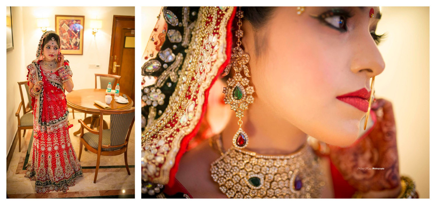 Red And Green Gemstone Earing by Nikhil Kumar Bridal-jewellery-and-accessories | Weddings Photos & Ideas