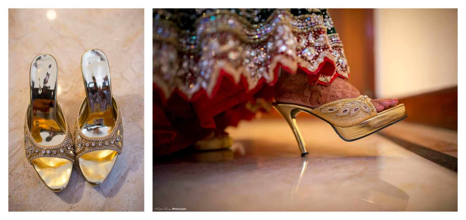 Bridal Golden Shimmer Shoes by Nikhil Kumar Wedding-photography | Weddings Photos & Ideas