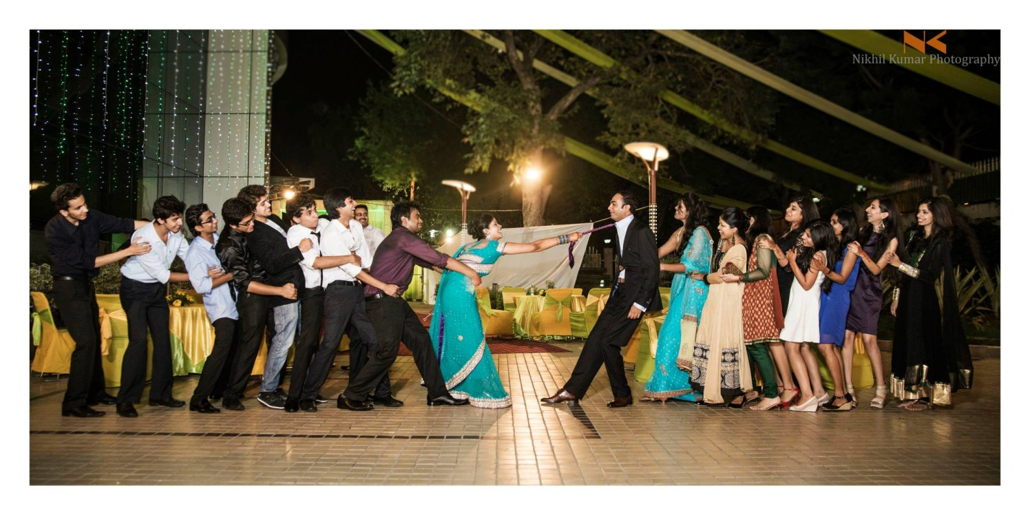 Tug of Bride VS Groom by Nikhil Kumar Wedding-photography | Weddings Photos & Ideas