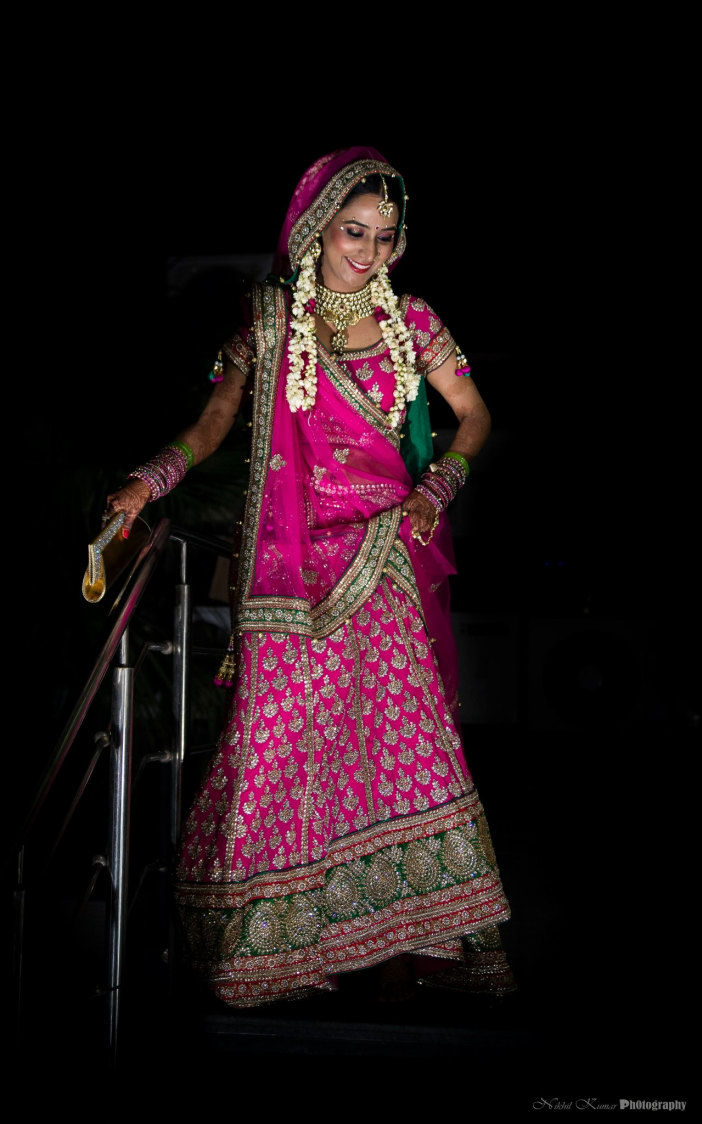 Fuscia Pink Wedding Lehenga by Nikhil Kumar Wedding-dresses | Weddings Photos & Ideas