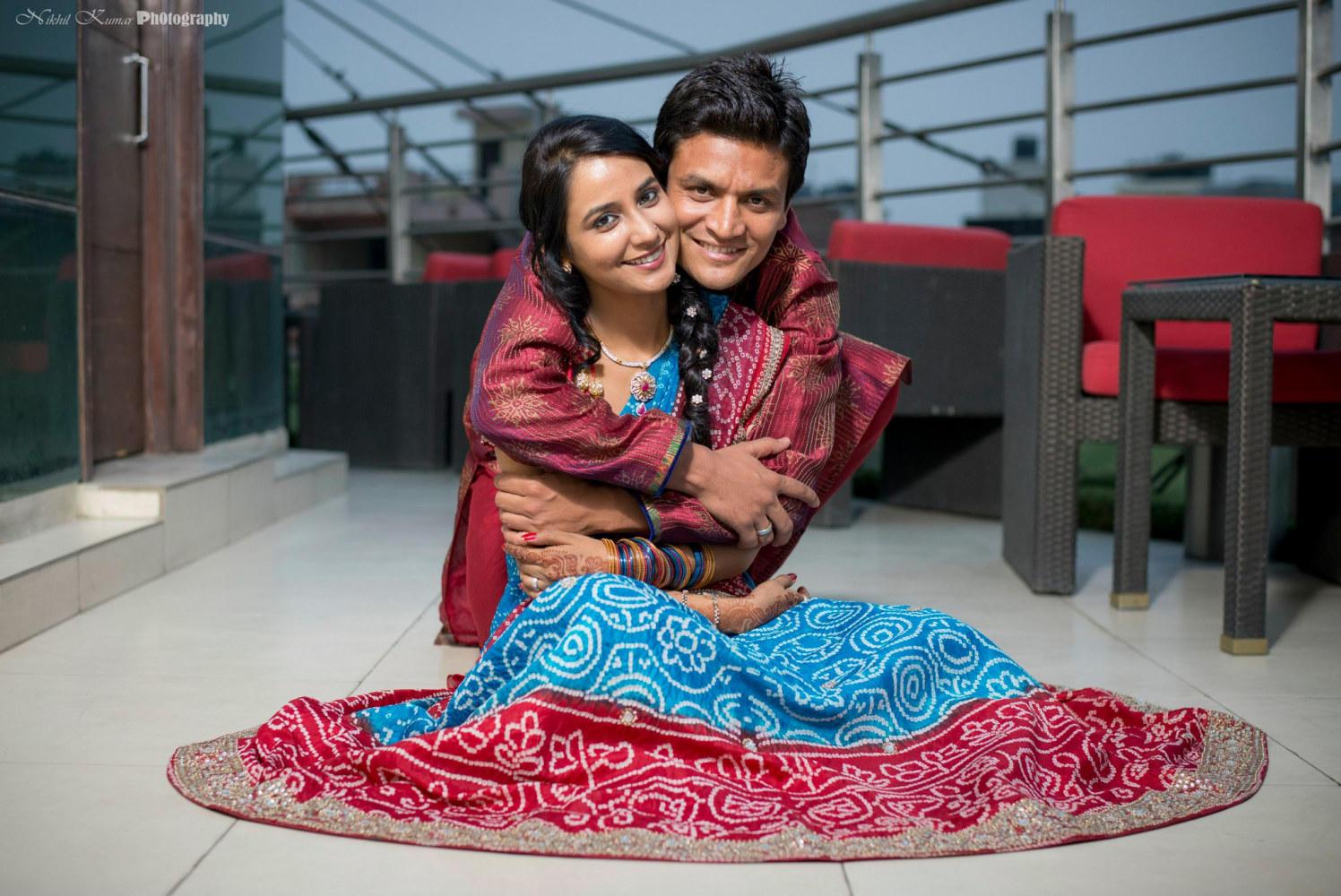 Ghaghra in Blue And Red by Nikhil Kumar Wedding-photography | Weddings Photos & Ideas