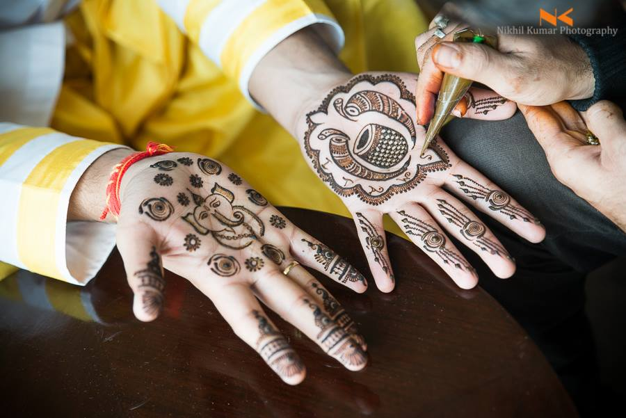 Groom's Mehendi Inspiration by Nikhil Kumar Wedding-photography | Weddings Photos & Ideas
