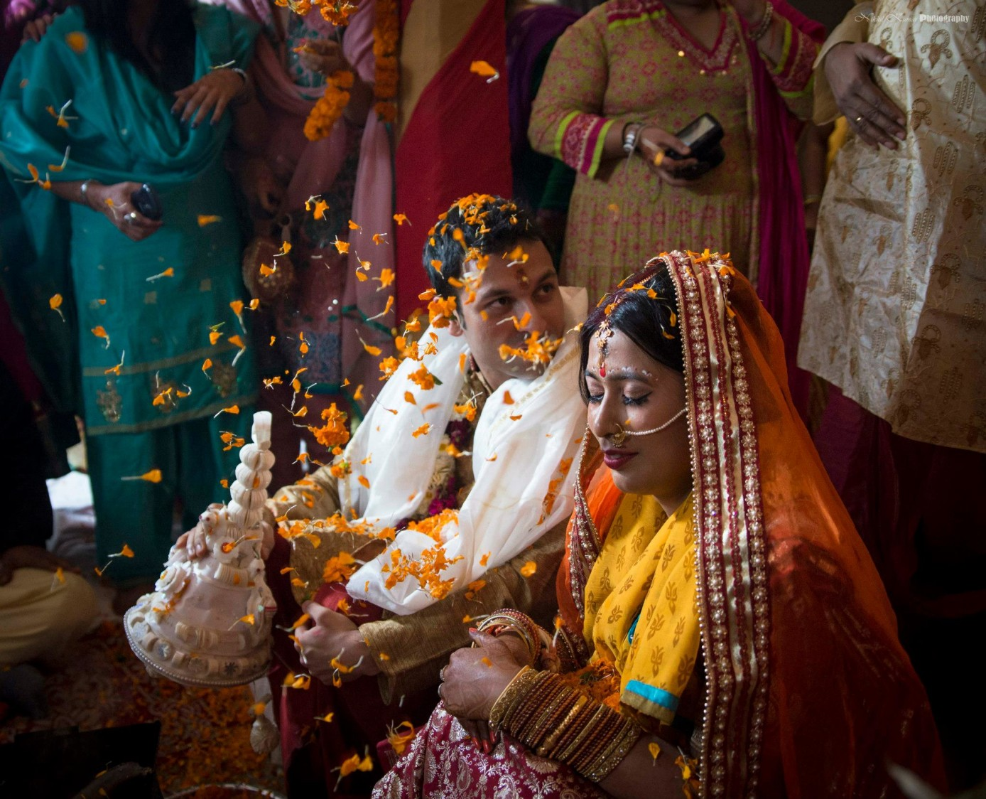 Marigold Flower Blessings by Nikhil Kumar Wedding-photography | Weddings Photos & Ideas