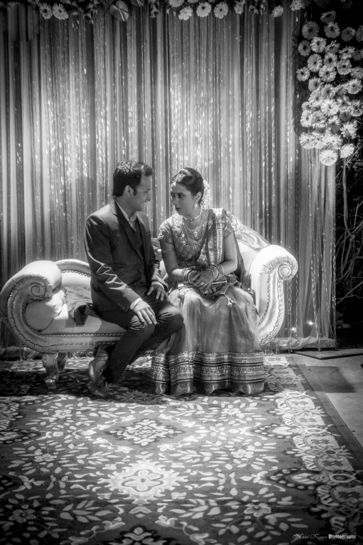 Black And White Couple Portrait by Nikhil Kumar Wedding-photography | Weddings Photos & Ideas
