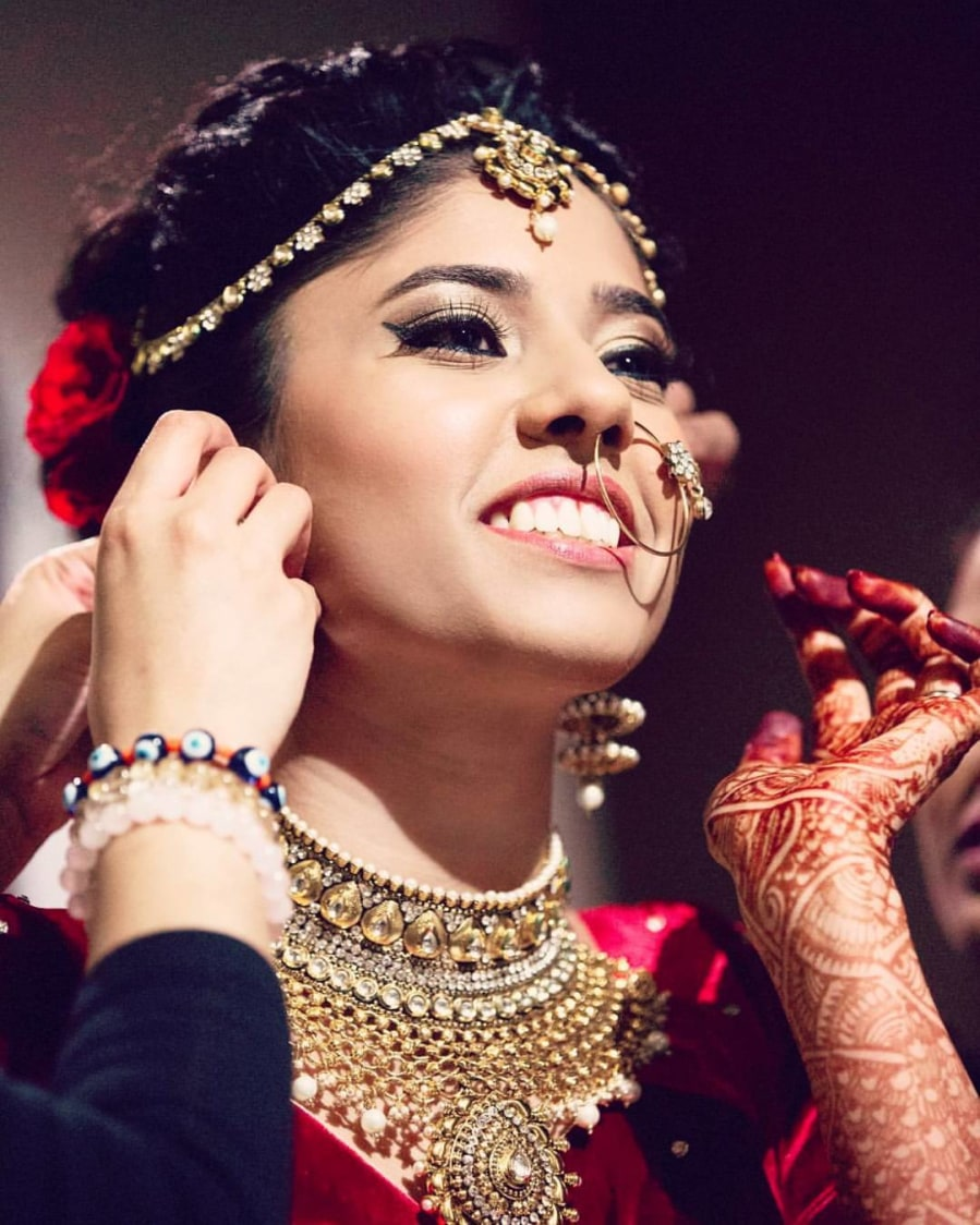 Indian Bride Wearing Heavy Jewellery by Anchal Kumar Wedding-photography | Weddings Photos & Ideas