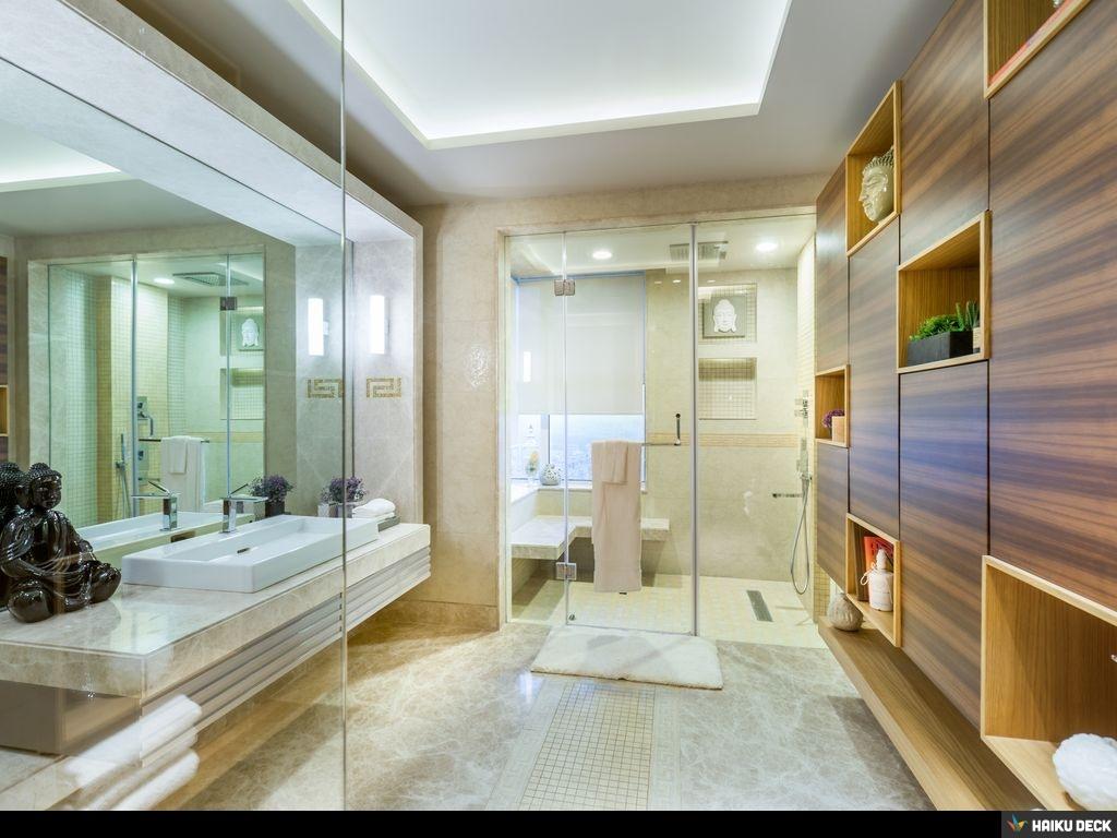 Bathroom With Wooden Shelfs by Vijay Kapur Bathroom Modern | Interior Design Photos & Ideas