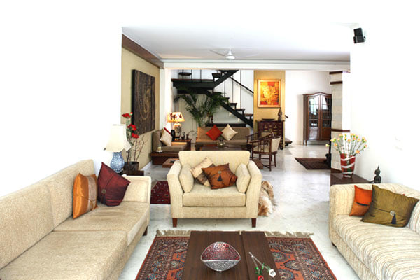 Living Room With Urban Interior Design by Vijay Kapur Living-room Contemporary | Interior Design Photos & Ideas