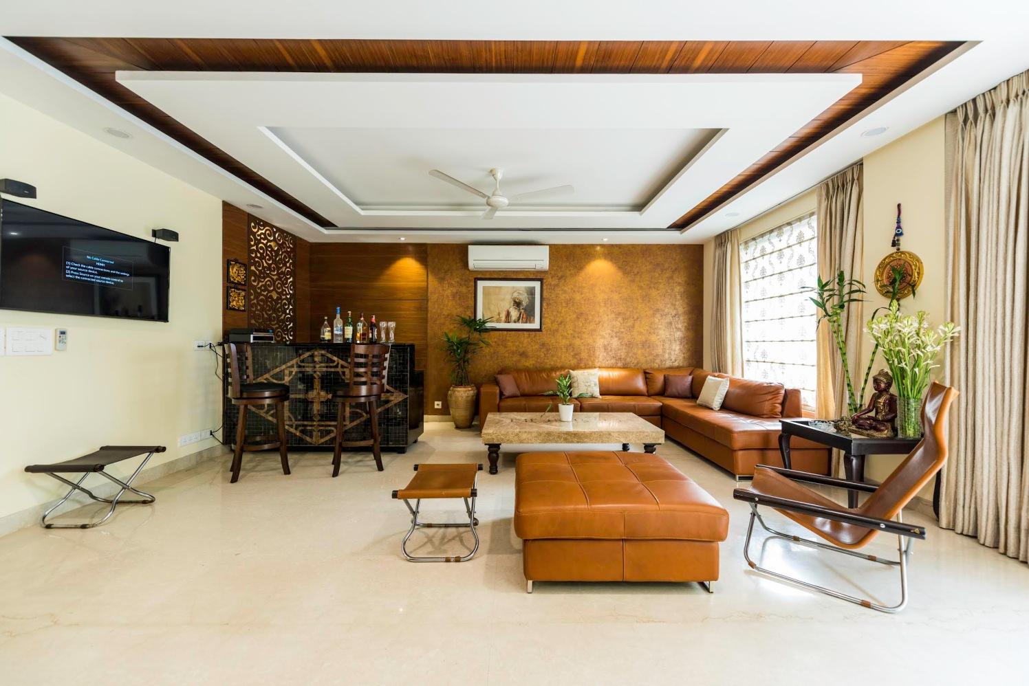 Living Room With Bulky Furniture by Vijay Kapur Living-room Contemporary   Interior Design Photos & Ideas