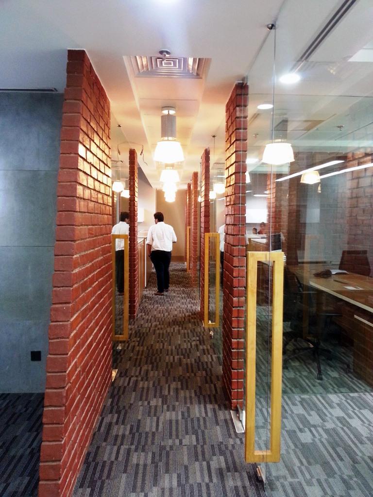 Retro Contemporary Office Lobby by Vijay Kapur Designs Contemporary | Interior Design Photos & Ideas