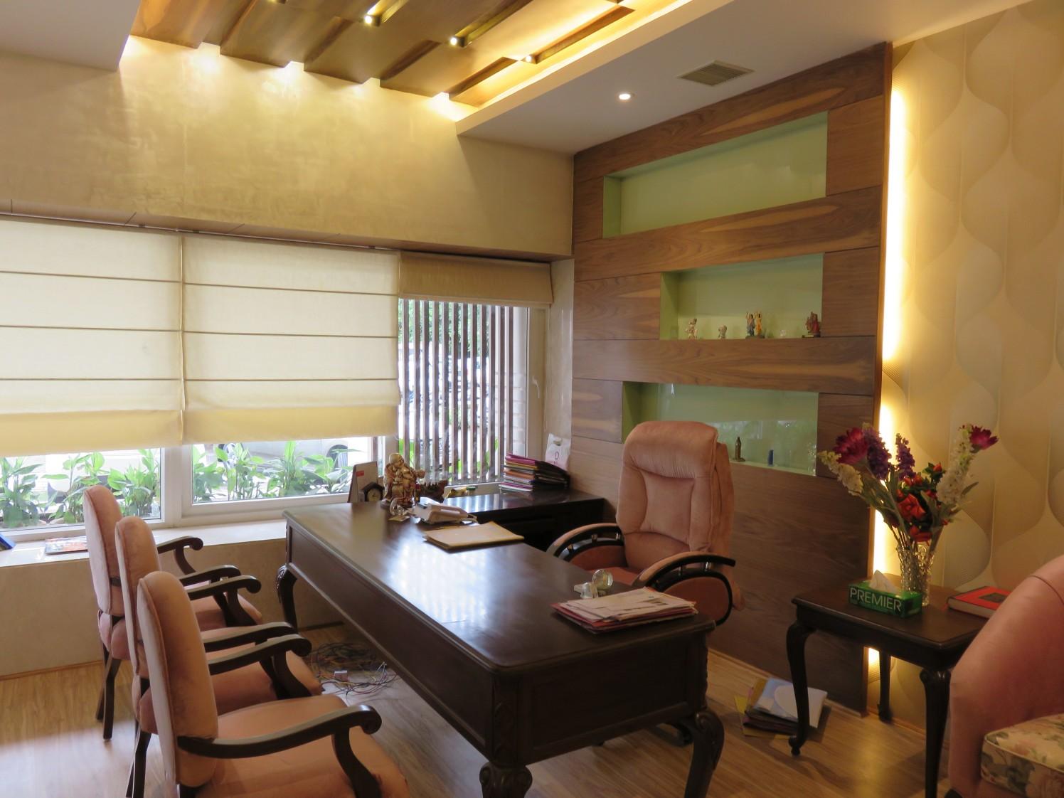 Modern Contemporary Office Cabin by Vijay Kapur Designs Contemporary | Interior Design Photos & Ideas