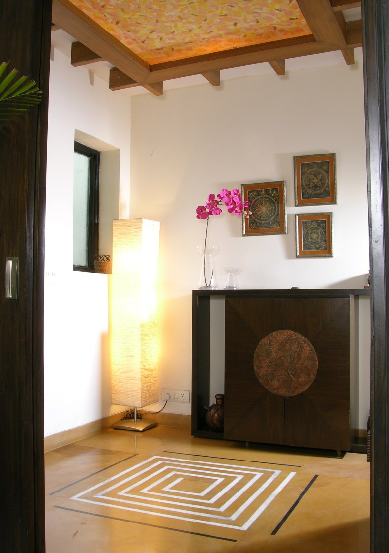 Traditional Hallway With Wooden False Ceiling by Vijay Kapur Indoor-spaces Traditional | Interior Design Photos & Ideas