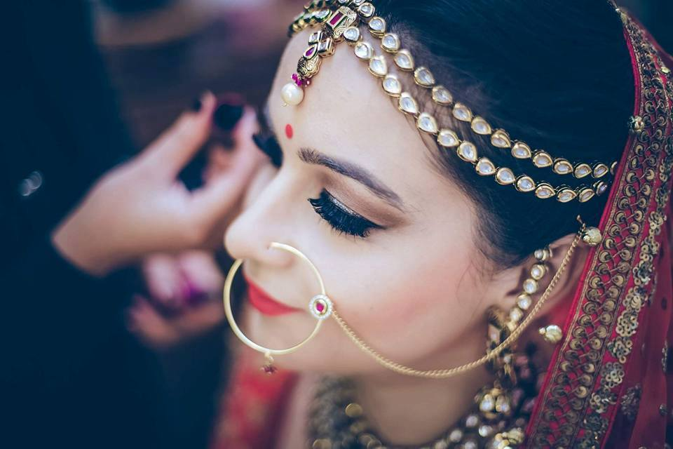 Fake eye lashes enhancing her beauty by Shruti Sharma Wedding-photography | Weddings Photos & Ideas