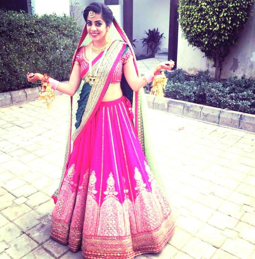 Pink Bridal lehenga for your punjabi wedding! by Shruti Sharma Bridal-makeup | Weddings Photos & Ideas