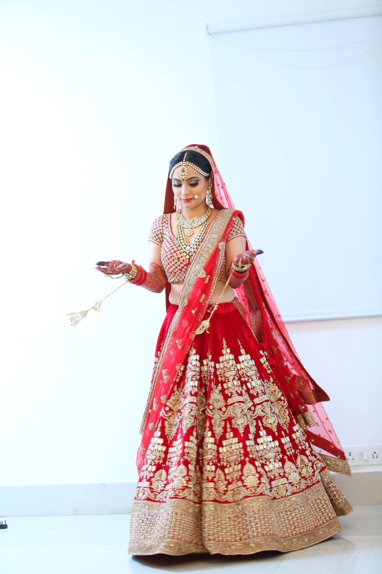 Highlighted in red by Shruti Sharma Bridal-makeup | Weddings Photos & Ideas