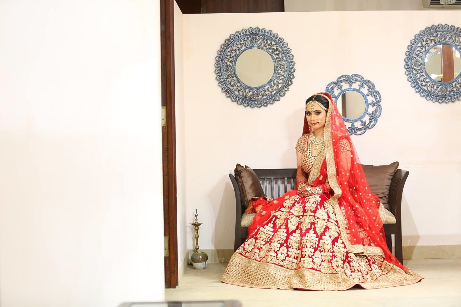Bride in Red by Shruti Sharma Bridal-makeup | Weddings Photos & Ideas