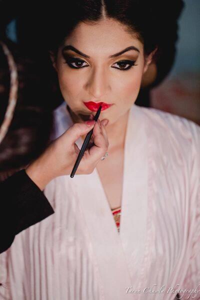 Bold red by Shruti Sharma Bridal-makeup   Weddings Photos & Ideas
