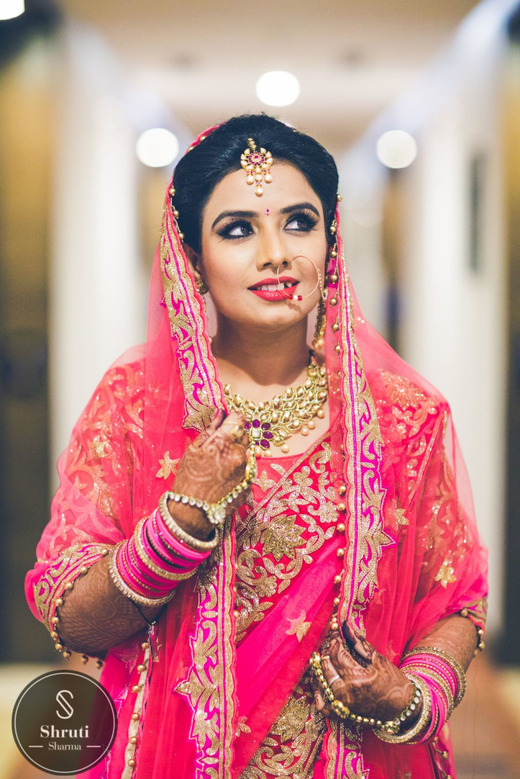 Pretty Punjaban in Pink by Shruti Sharma Bridal-makeup | Weddings Photos & Ideas