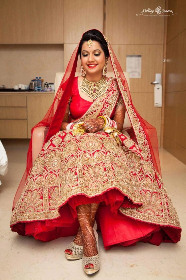 Twinkling face by Shruti Sharma Bridal-makeup | Weddings Photos & Ideas