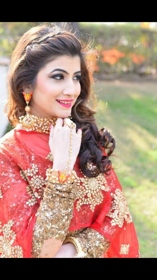 Red attire perfectly suits her by Sakshi Sagar Bridal-makeup | Weddings Photos & Ideas