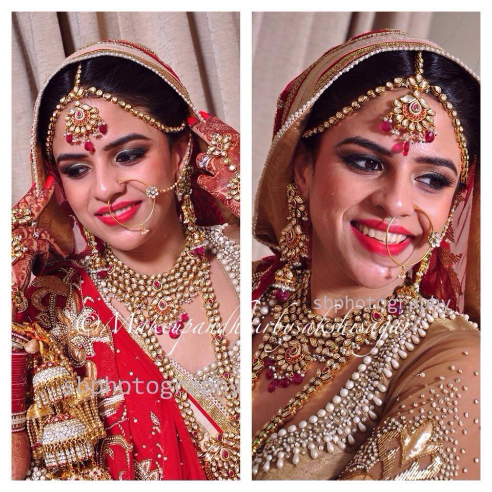 Candid click of bride by Sakshi Sagar Bridal-makeup | Weddings Photos & Ideas