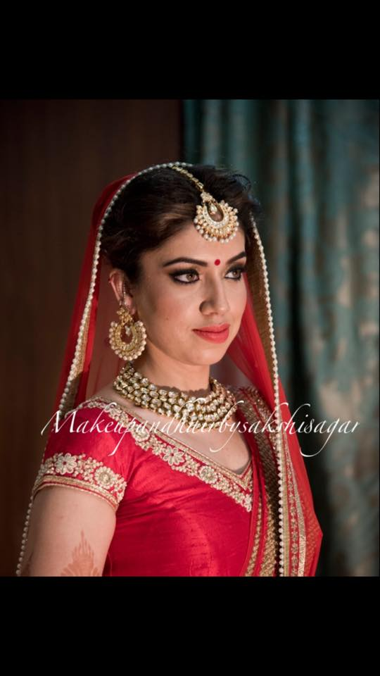 Red attire suits her! by Sakshi Sagar Bridal-makeup | Weddings Photos & Ideas