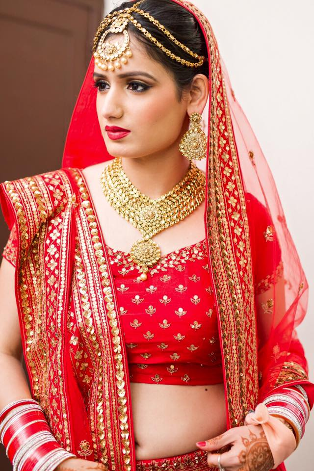 Beauty in Red! by Sakshi Sagar Bridal-makeup | Weddings Photos & Ideas