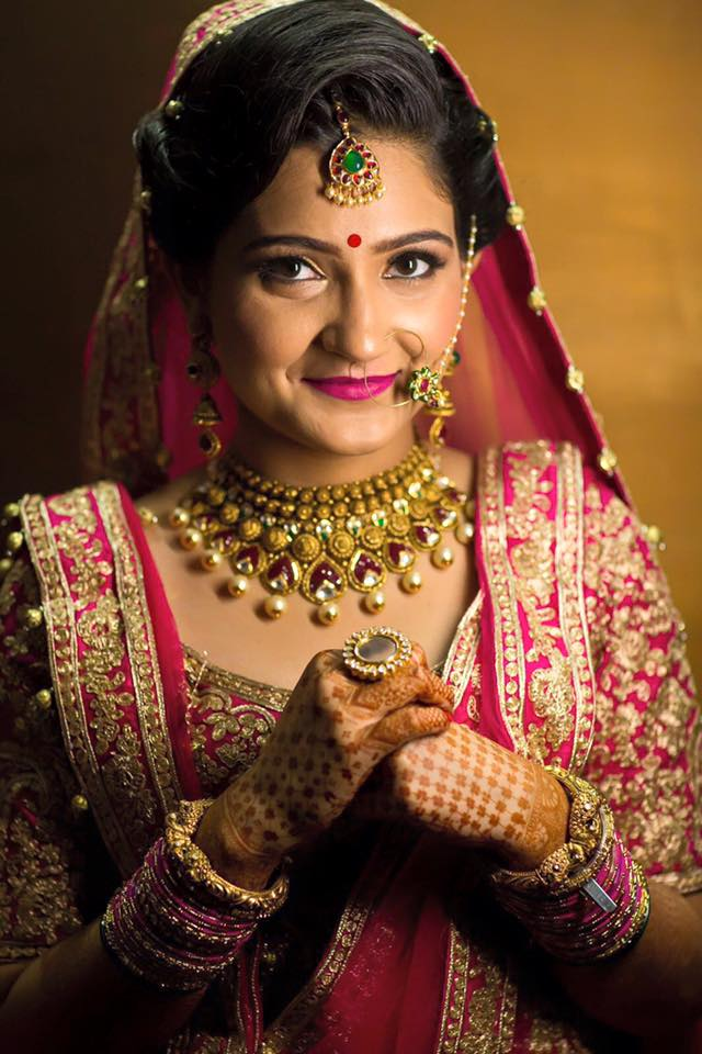 Make-up,hair,jewelry, basically everything on fleek! by Sakshi Sagar Bridal-makeup | Weddings Photos & Ideas