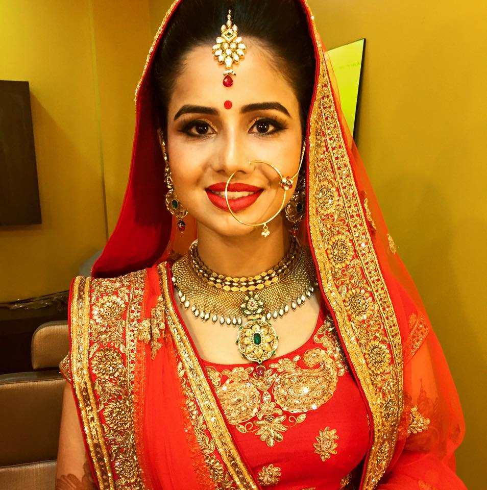 Red wedding lehenga by Sakshi Sagar Bridal-makeup | Weddings Photos & Ideas