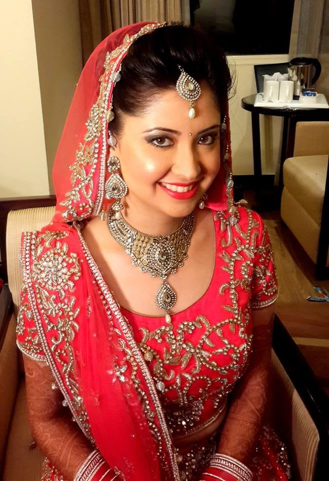 Swooning over that glow by Shikha K Chandra Bridal-makeup | Weddings Photos & Ideas