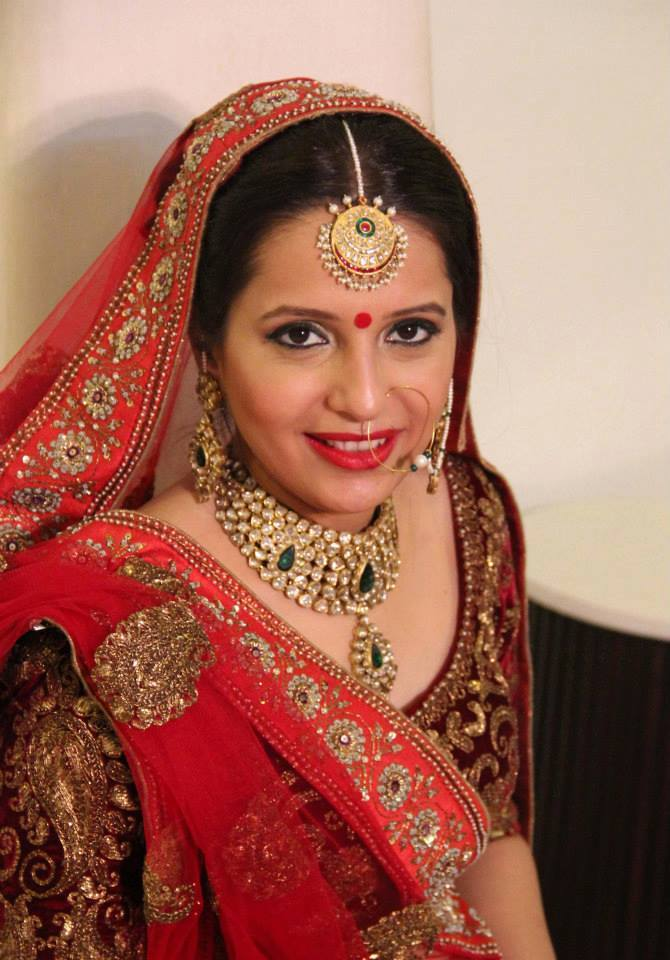 Radiant in red by Shikha K Chandra Bridal-makeup | Weddings Photos & Ideas