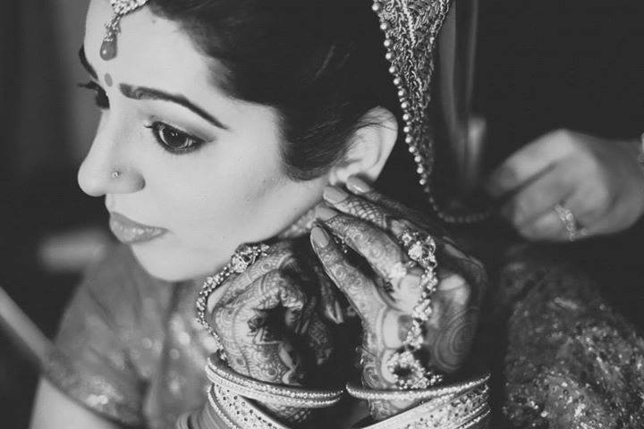 Prepping for the day by Shikha K Chandra Bridal-makeup | Weddings Photos & Ideas