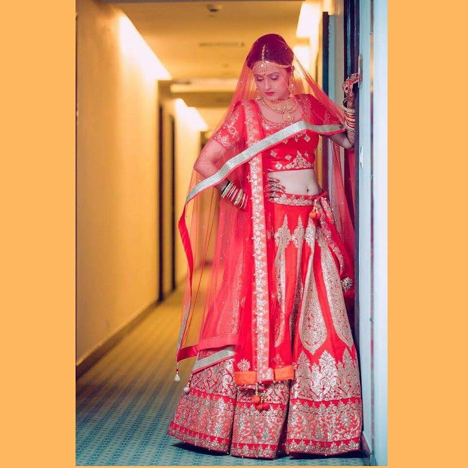 Dramatic in red by Shikha K Chandra Bridal-makeup   Weddings Photos & Ideas