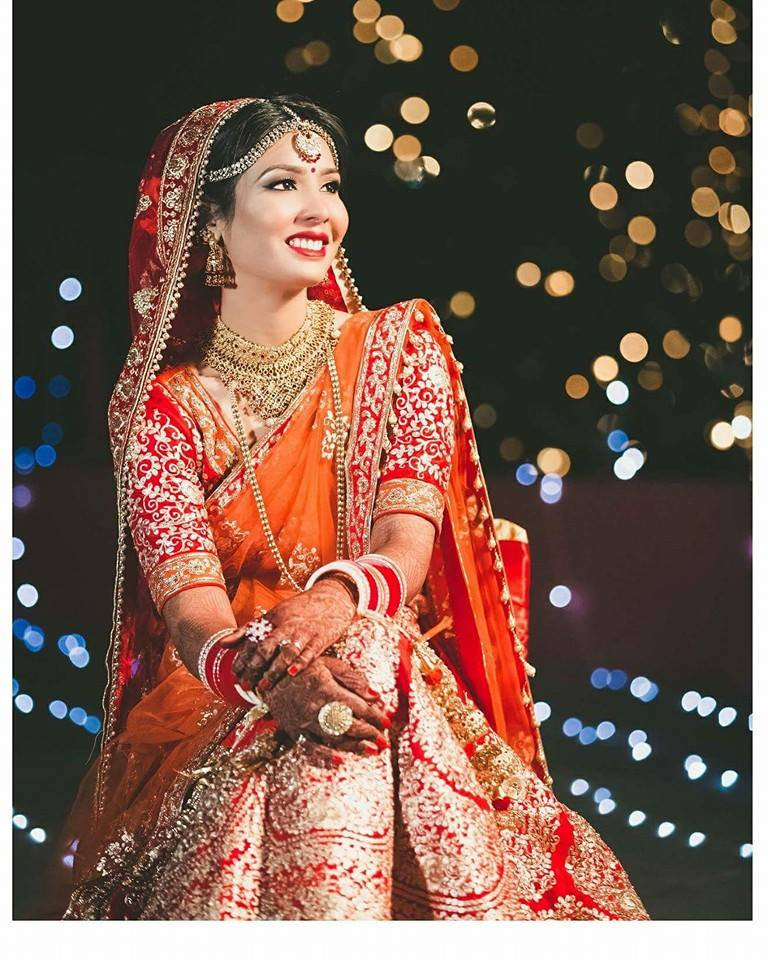 Glowing among the stars by Shikha K Chandra Bridal-makeup | Weddings Photos & Ideas
