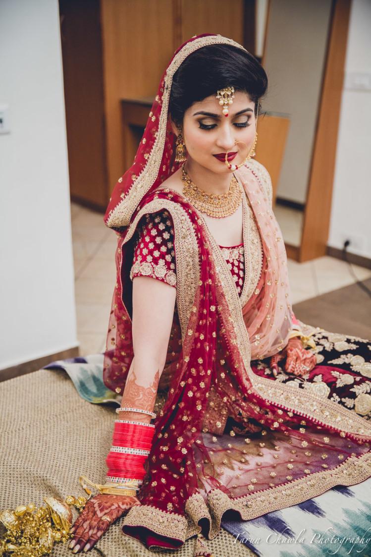 Luscious red by Shikha K Chandra Bridal-makeup | Weddings Photos & Ideas