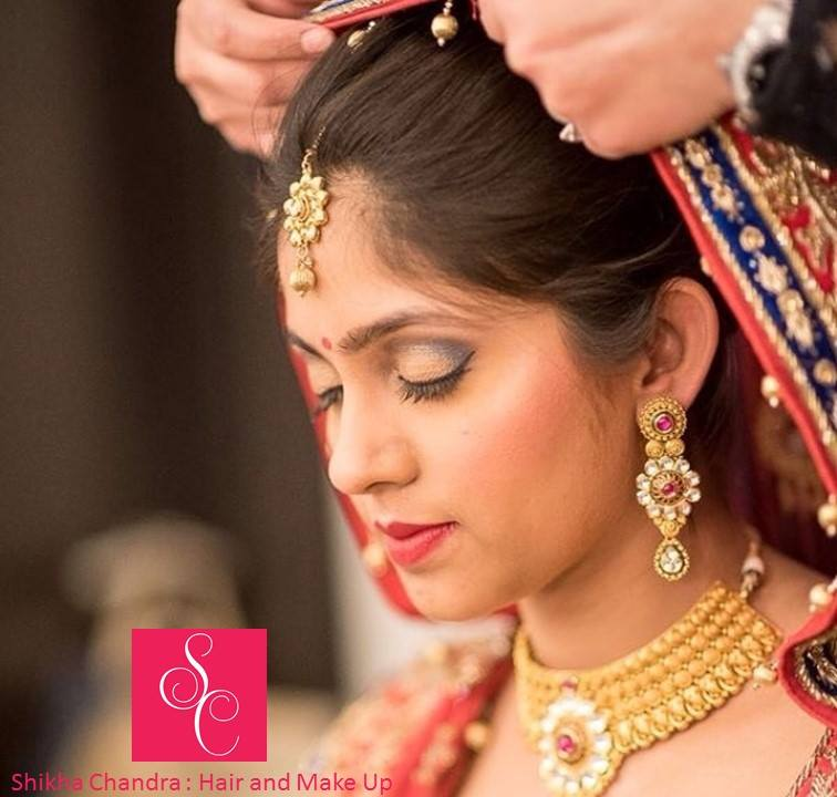 Perfectly contoured by Shikha K Chandra Bridal-makeup | Weddings Photos & Ideas