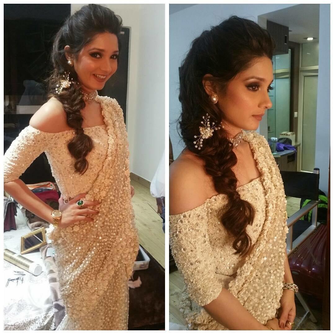 Fishtail braid with pearly magic by Shikha K Chandra Bridal-makeup | Weddings Photos & Ideas