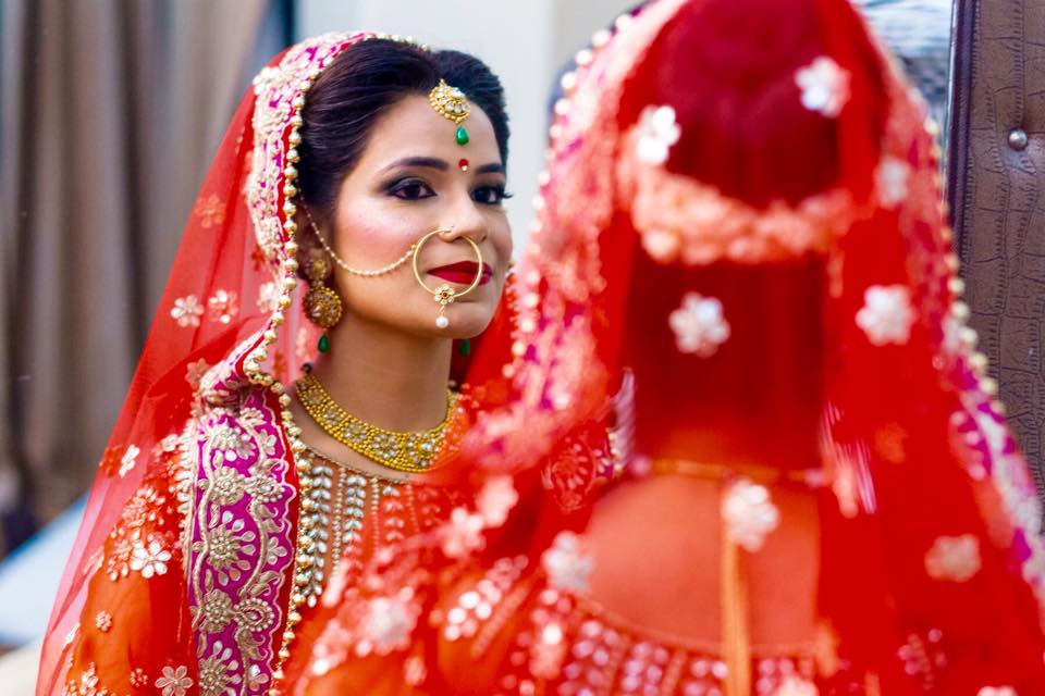 Happy and proud just like her look! by Bobby Chopra Bridal-makeup | Weddings Photos & Ideas