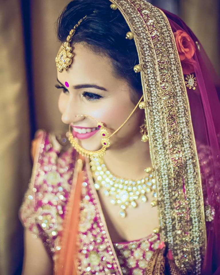 Nose-ring for that perfect bling by Bobby Chopra Bridal-makeup | Weddings Photos & Ideas