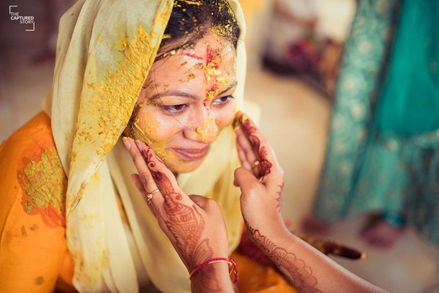 Haldi ceremony done right by Captured Memories Wedding-photography | Weddings Photos & Ideas