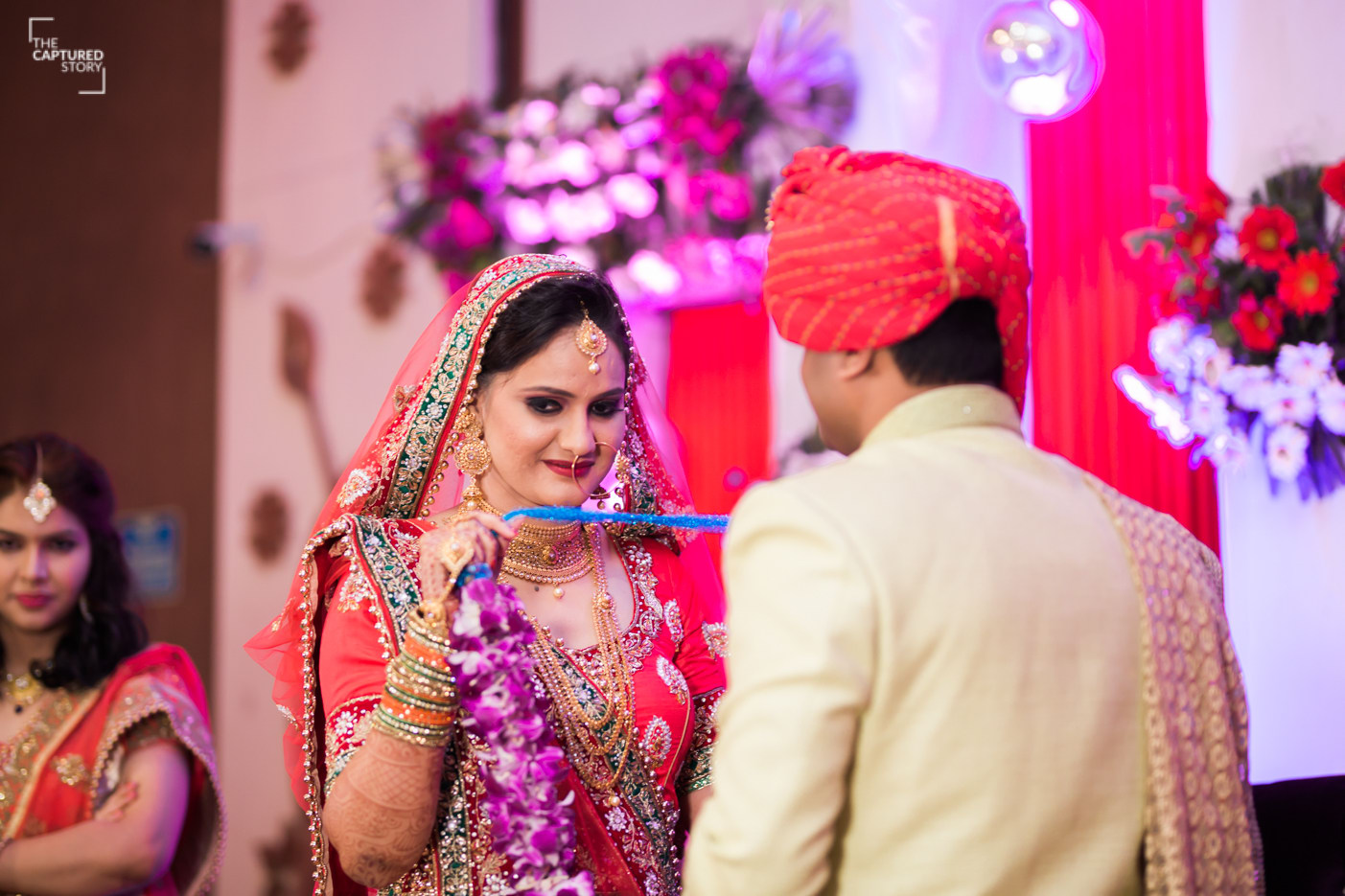 Jaimala ceremony in full swing by Captured Memories Wedding-photography | Weddings Photos & Ideas
