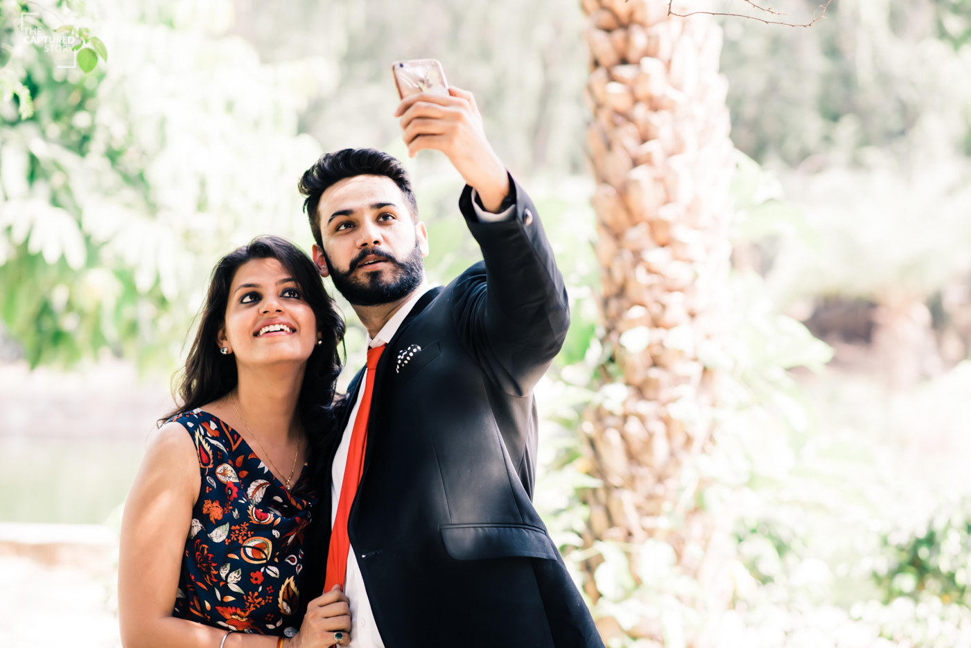 Perfect couple demands a perfect selfie by Captured Memories Wedding-photography | Weddings Photos & Ideas