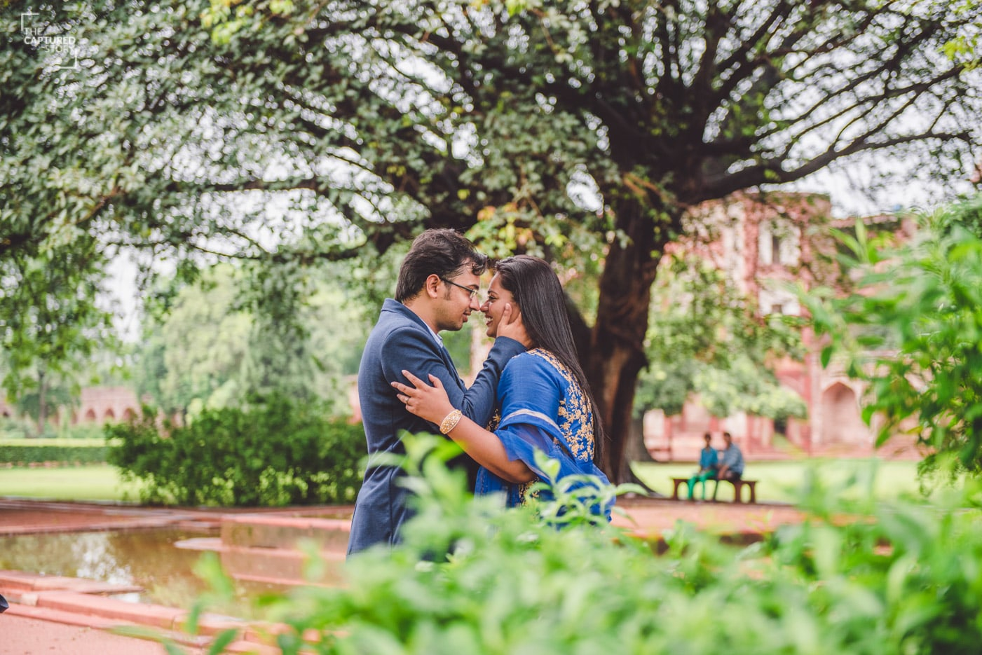 His touch is a bliss to her by Captured Memories Wedding-photography | Weddings Photos & Ideas