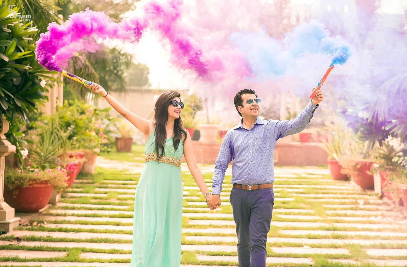 Color bombing be the trend setter! by Captured Memories Wedding-photography | Weddings Photos & Ideas