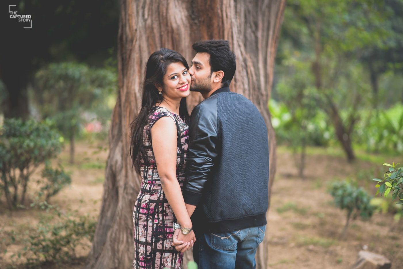 Kiss on cheek is the most romantic gesture! by Captured Memories Wedding-photography | Weddings Photos & Ideas