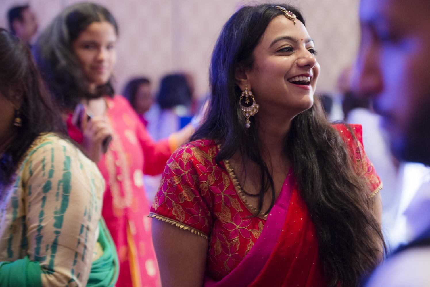Bridesmaid Wearing Kundan Pearl Earing by Arpit Gulati Wedding-photography | Weddings Photos & Ideas